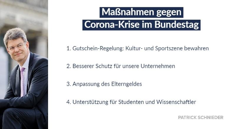 Maßnahmen im Bundestag Corona